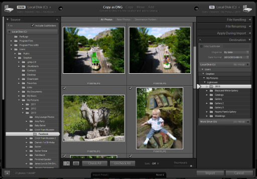 Import Images into Adobe Lightroom