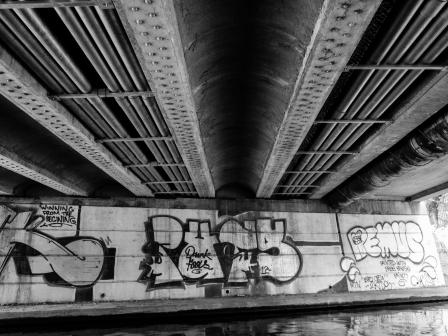 Underside of bridges on the Nottingham Canal